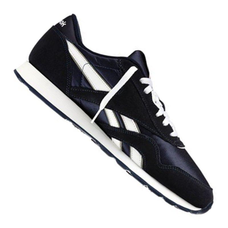 Reebok Classic Nylon Sneaker Blau Weiss - blau