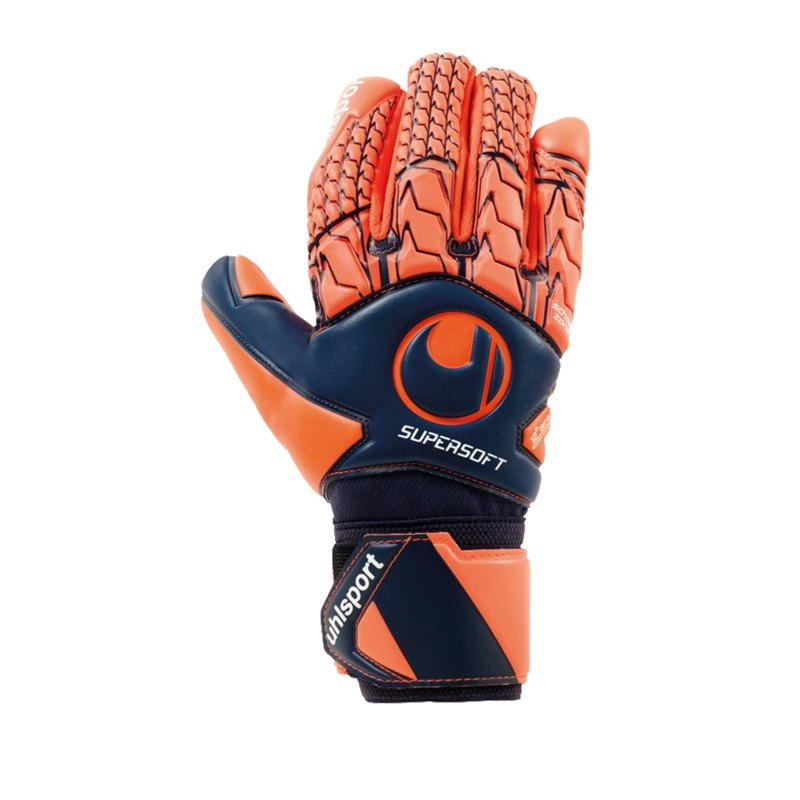 Uhlsport Next Level Supersoft HN TW-Handschuh Orange F01 - blau