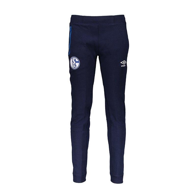 Umbro FC Schalke 04 Pro Fleece Pant Kids Blau F4BK - blau