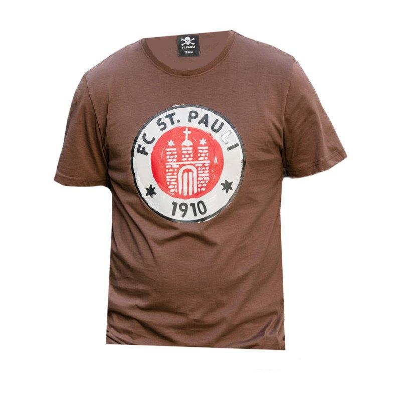 FC St. Pauli Logo Paint T-Shirt Braun - braun