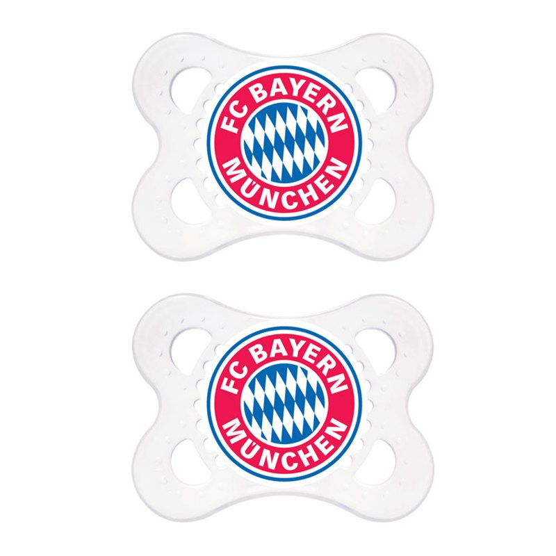 fc bayern m nchen schnuller doppelpack fanshop replica fanartikel babyartikel schnullerset. Black Bedroom Furniture Sets. Home Design Ideas