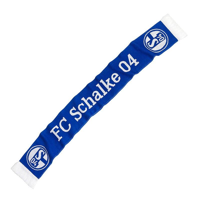 fc schalke 04 classic schal blau weiss fu ballverein 1 bundesliga fankurve. Black Bedroom Furniture Sets. Home Design Ideas