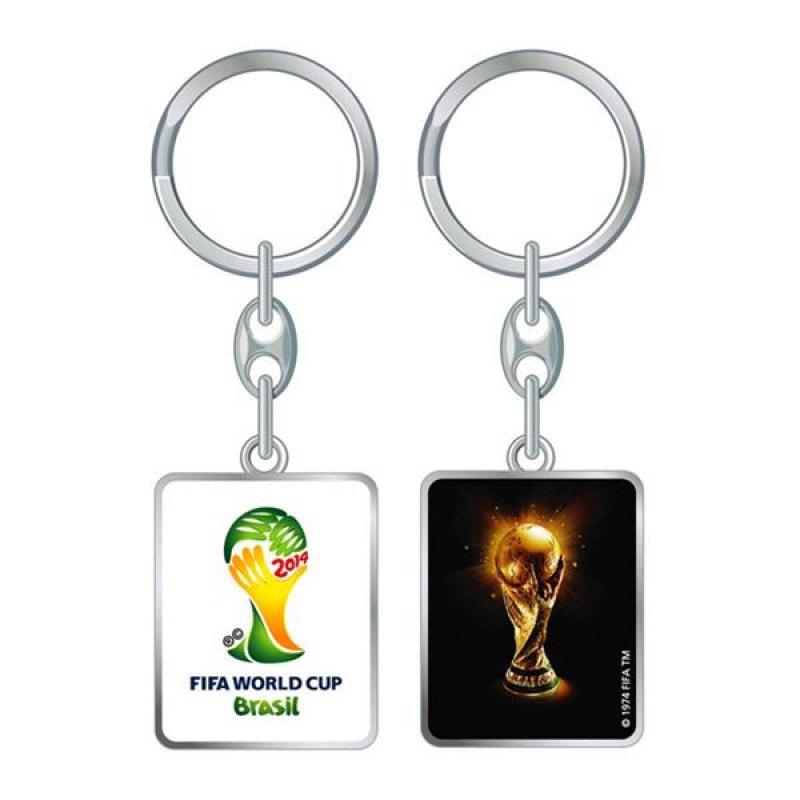 FIFA Pokal Schlüsselanhänger Weiss Schwarz - silber