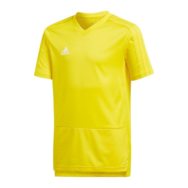 adidas Condivo 18 Training T-Shirt Kids Gelb - gelb