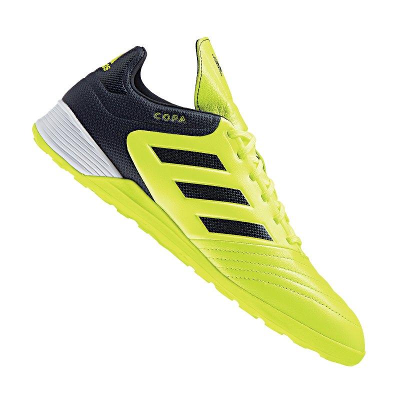 adidas COPA Tango 17.3 IN Halle Gelb Blau - gelb