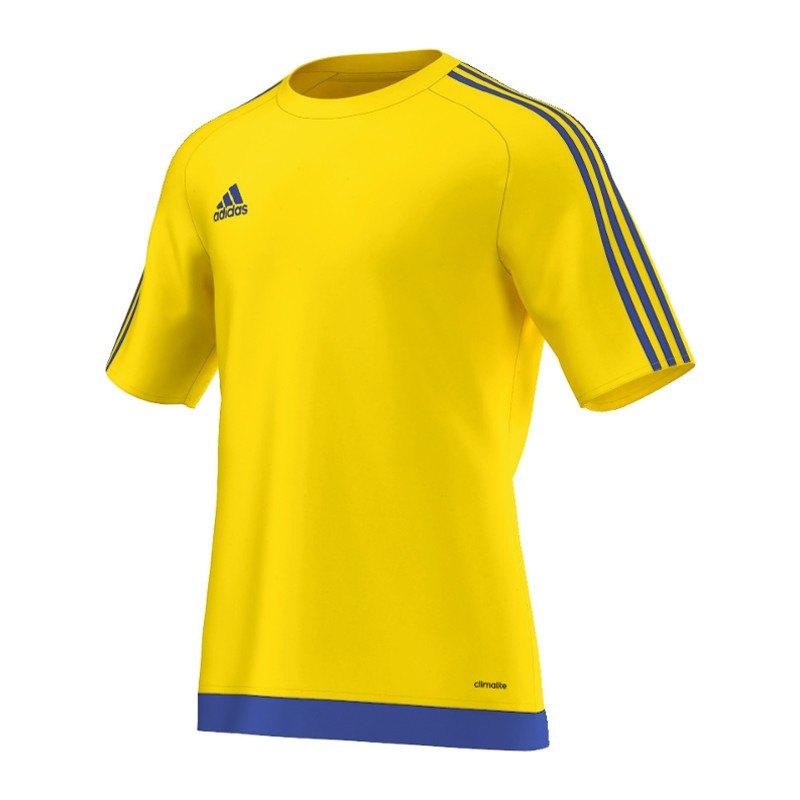 adidas Estro 15 Trikot kurzarm Gelb Blau - gelb