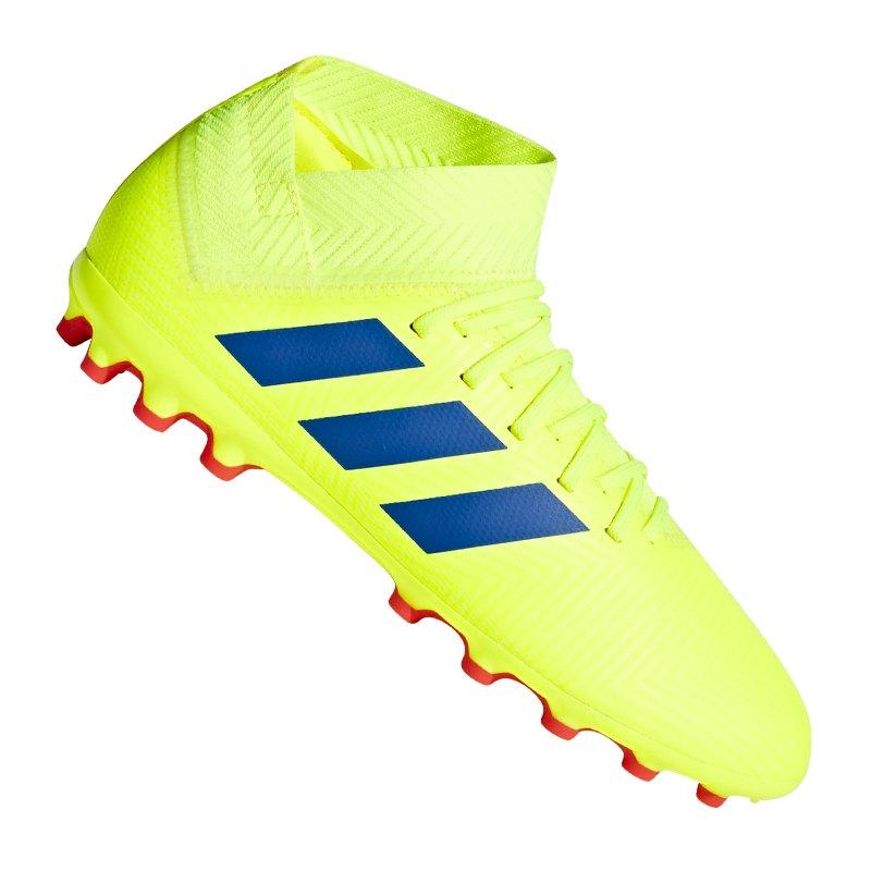 adidas NEMEZIZ 18.3 AG J Kids Gelb Blau - gelb