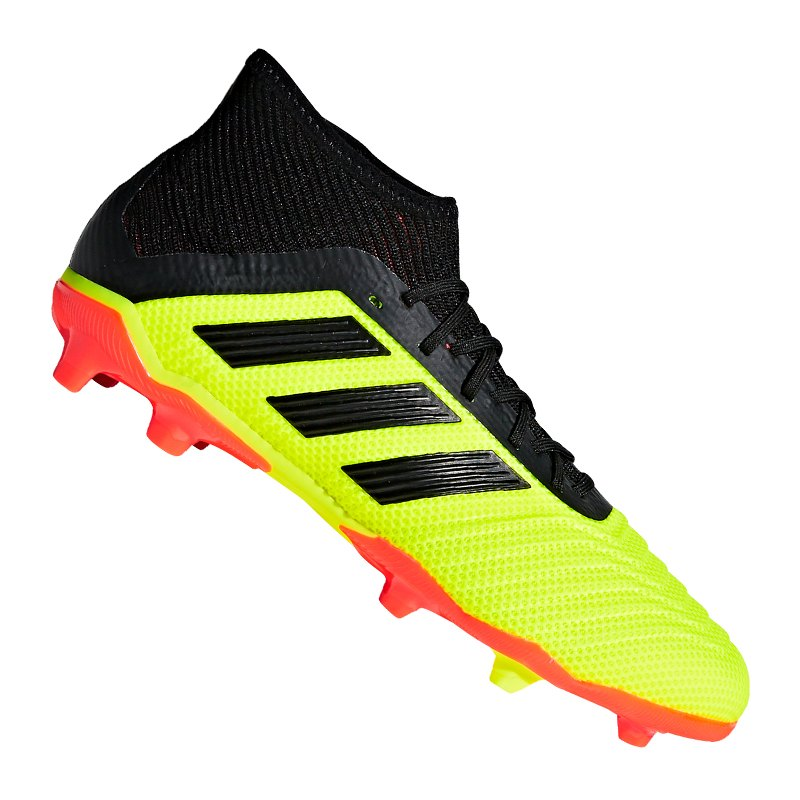 adidas Predator 18.1 FG J Kids Gelb Schwarz - gelb