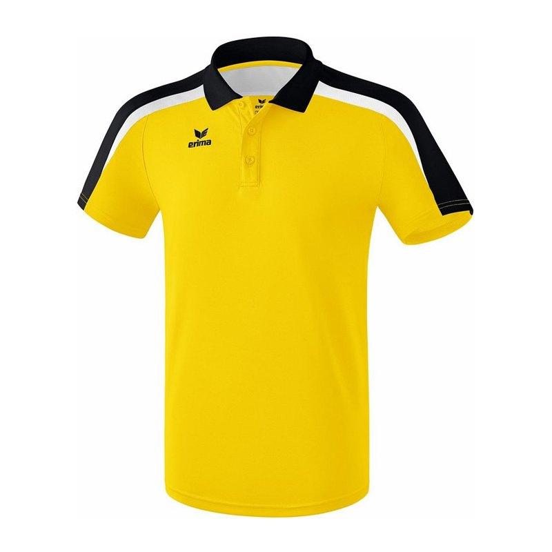 Erima Liga 2.0 Poloshirt Gelb Schwarz Weiss - gelb