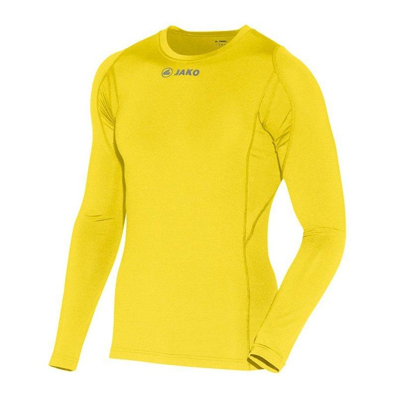 Jako Compression Longsleeve Shirt Gelb F03 - gelb