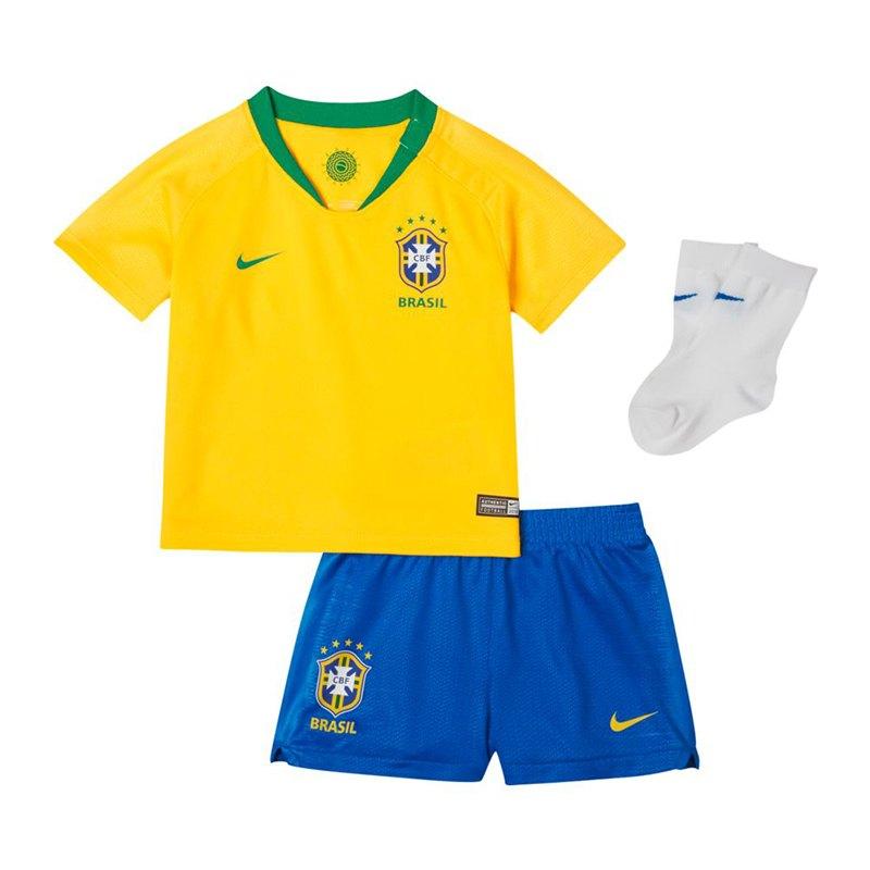 Nike Brasilien Babykit Home WM 2018 Gold F749 - gelb