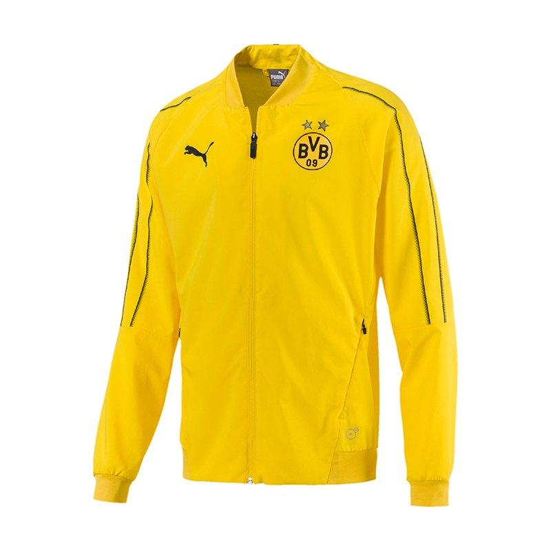 PUMA BVB Dortmund Leisure Jacke Jacket Gelb F01 - Gelb