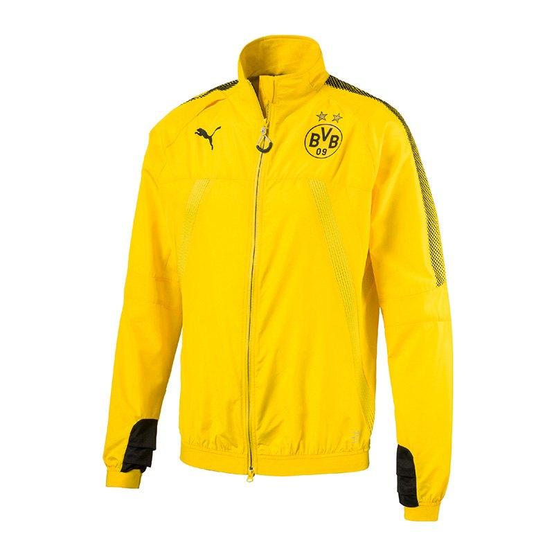 PUMA BVB Dortmund Stadium Jacke Gelb Schwarz F01 - gelb