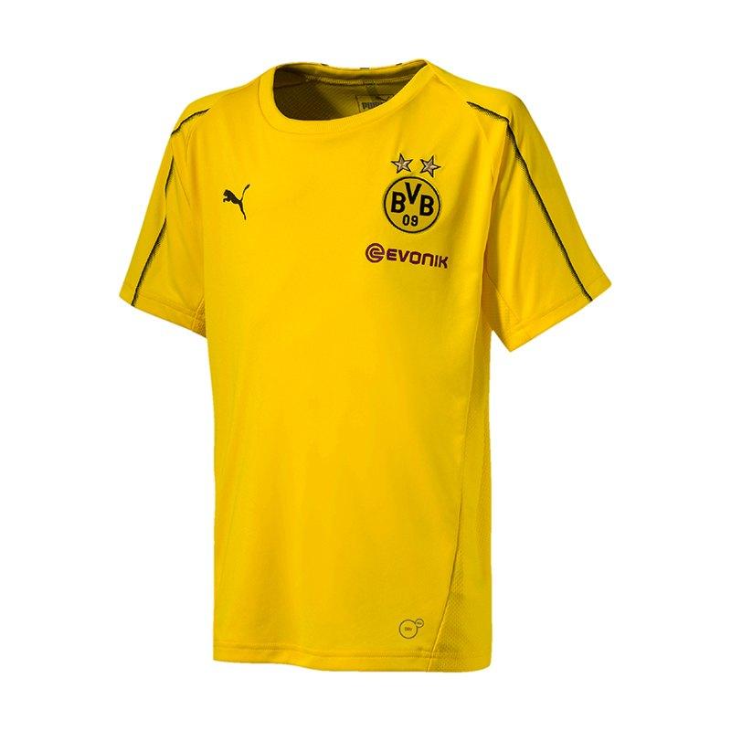 PUMA BVB Dortmund Training T-Shirt Kids Gelb F01 - gelb