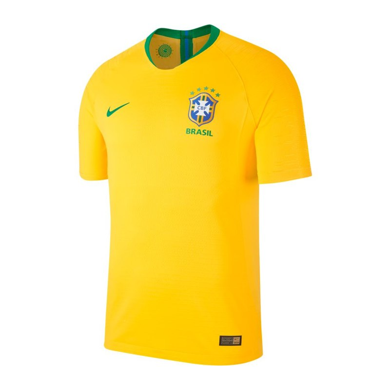 Nike Brasilien Authentic Trikot Home WM 18 F749 - gold