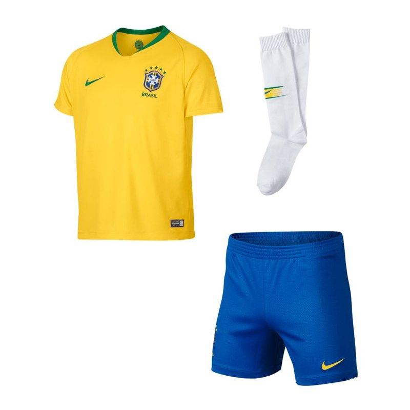 Nike Brasilien Minikit Home WM 2018 Gold F749 - gold
