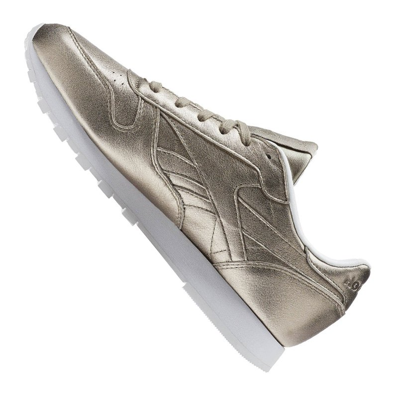 reebok classic leather melted metal damen gold fashion turnschuh woman alltagsschuh. Black Bedroom Furniture Sets. Home Design Ideas