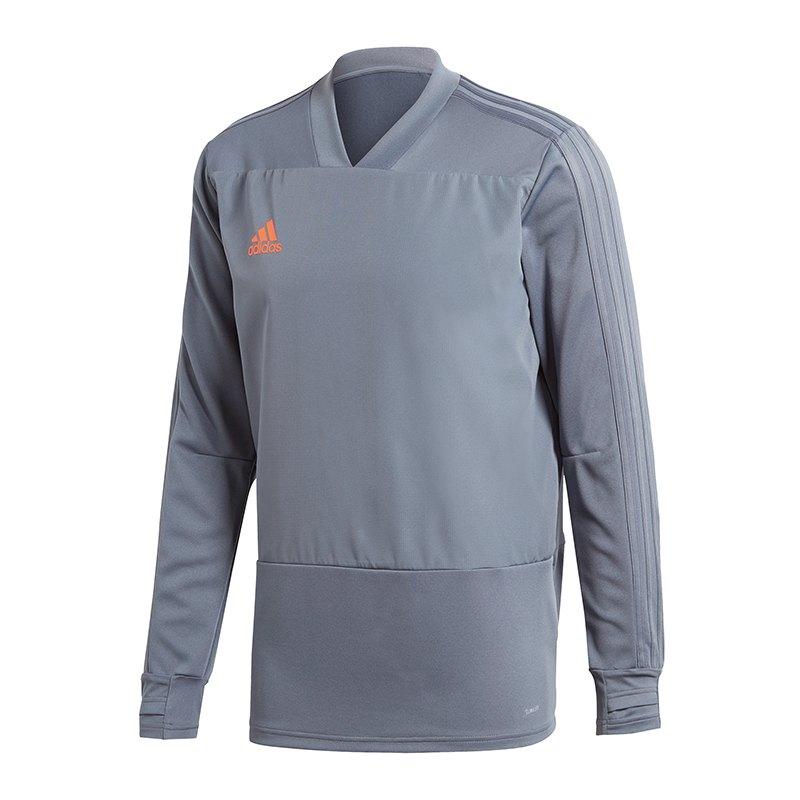 adidas Condivo 18 Sweatshirt Grau Orange - grau