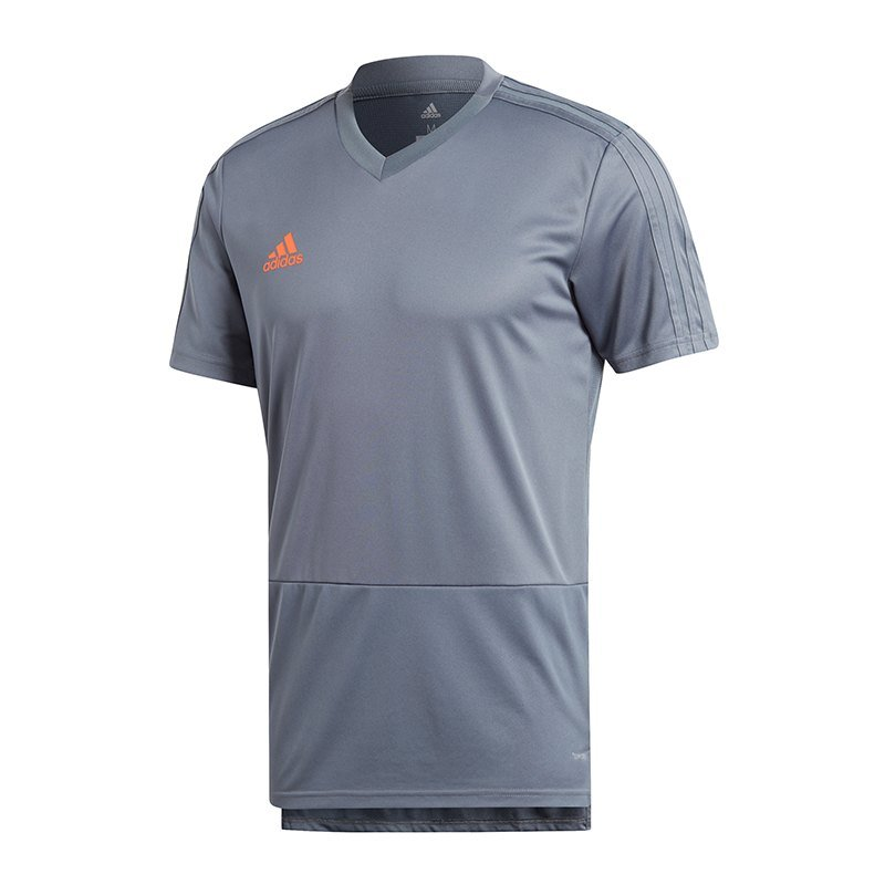 adidas Condivo 18 Training T-Shirt Grau Orange - grau