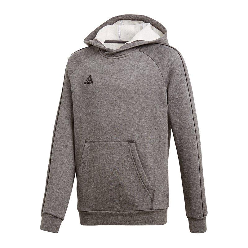 adidas Core 18 Hoody Kapuzensweatshirt Kids Grau - grau