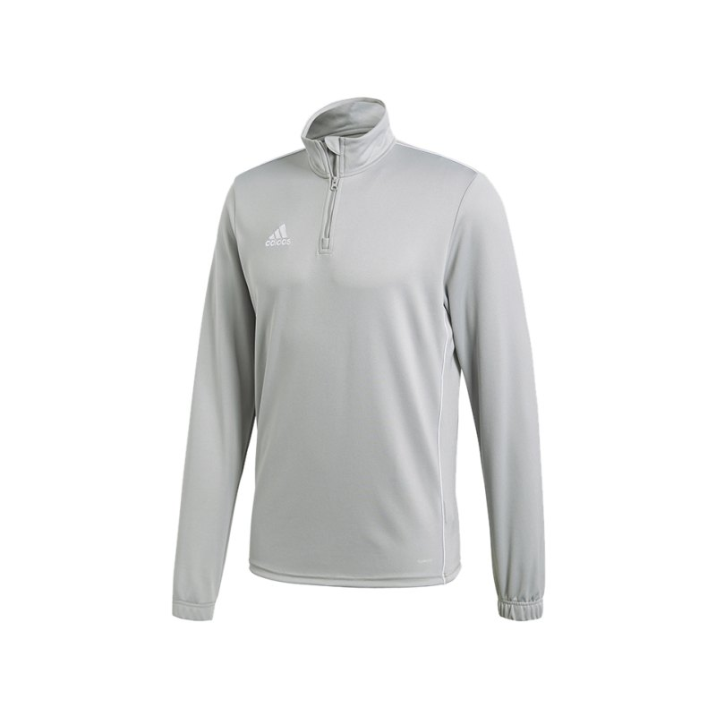 adidas Core 18 Training Top Grau Weiss - grau