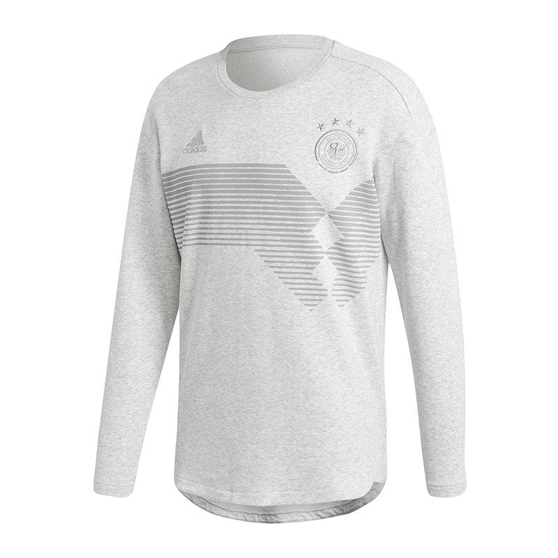 adidas dfb deutschland sweatshirt grau soccerequipment. Black Bedroom Furniture Sets. Home Design Ideas