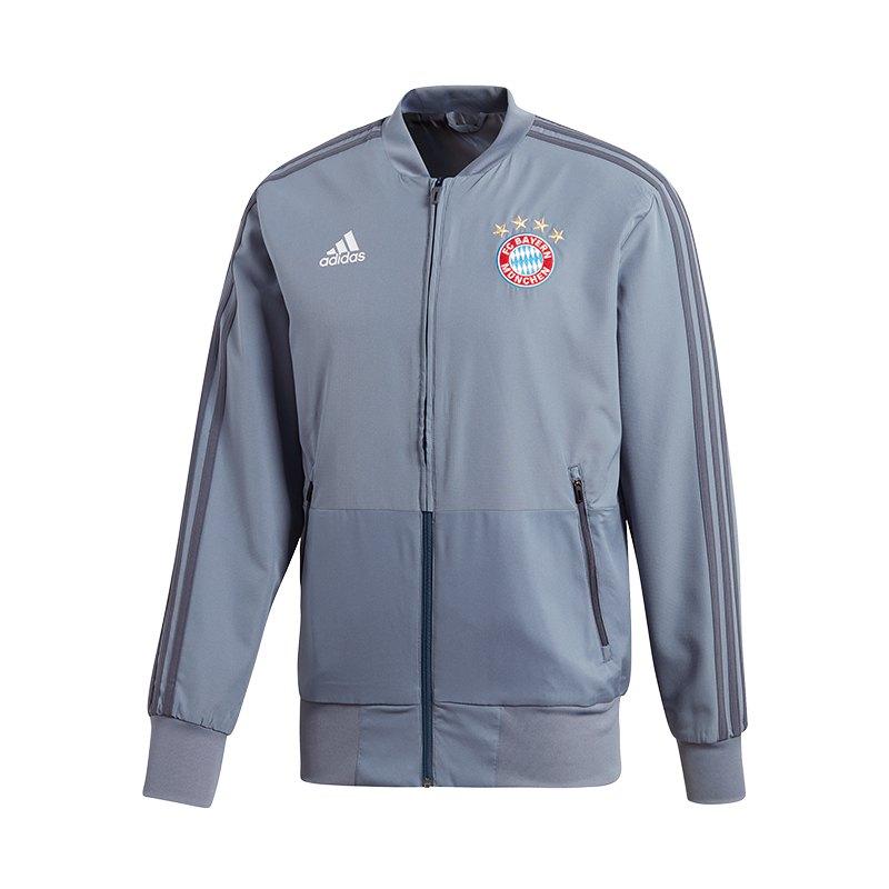 adidas FC Bayern München Präsentationsjacke Grau - grau