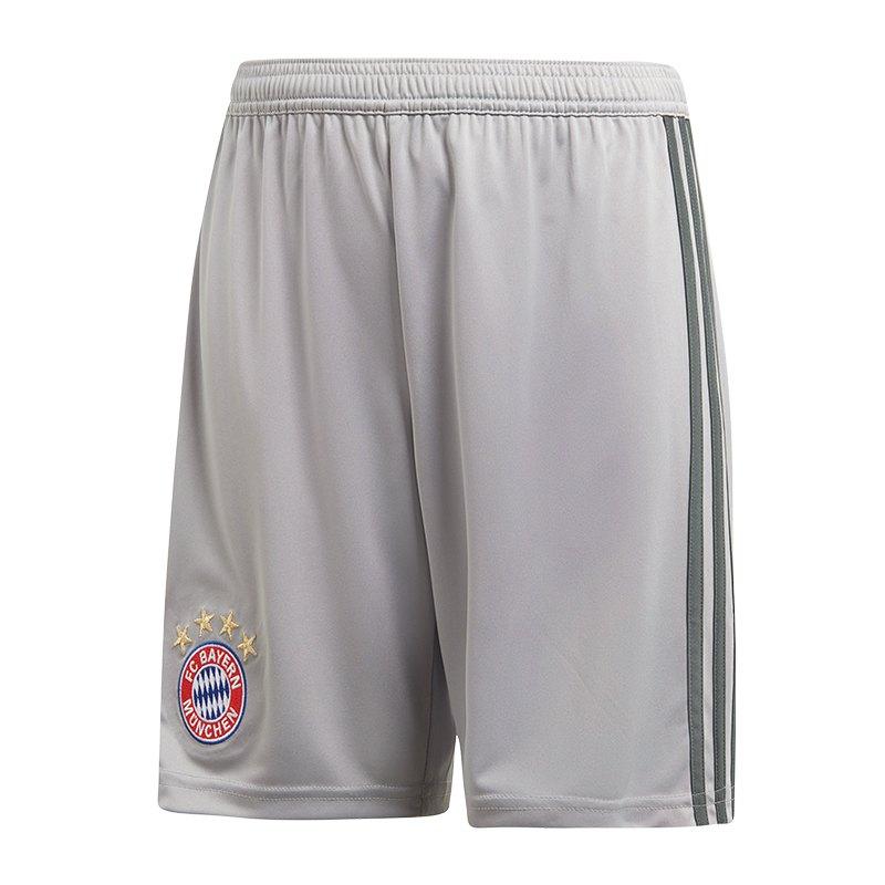 adidas FC Bayern München TW-Short Home Kids 18/19 - grau