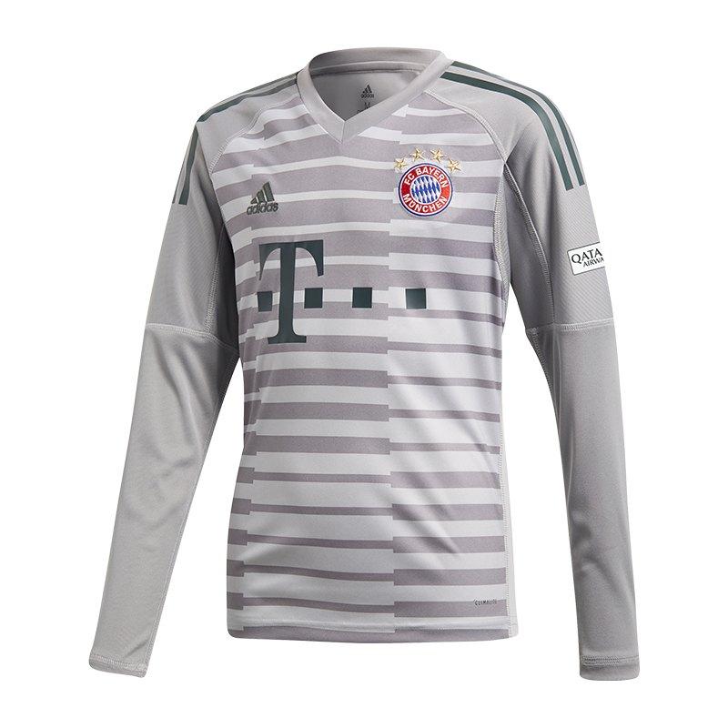 adidas FC Bayern München TW-Trikot Home 18/19 Grau - grau