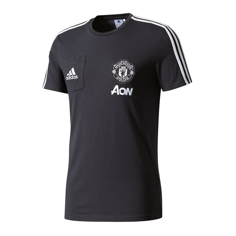 adidas manchester united t shirt in grau fankollektion. Black Bedroom Furniture Sets. Home Design Ideas