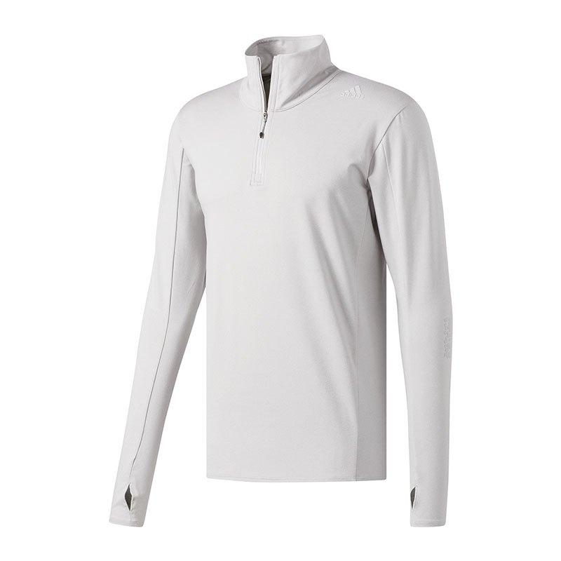 adidas Supernova 1/2 Zip Sweatshirt Running Grau - grau