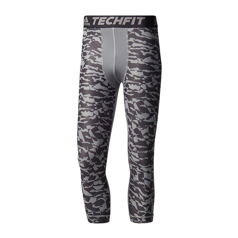 adidas Techfit Chill 3/4 Tights Print Grau - grau