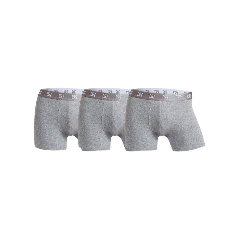 CR7 Basic Trunk Boxershort 3er Pack Grau - grau
