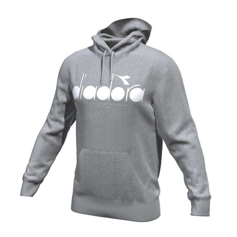Diadora Hoody 5Palle Kapuzensweatshirt C5493 - grau
