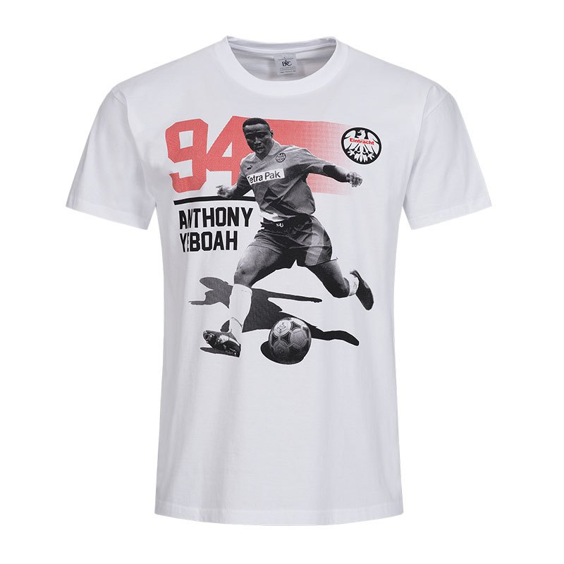 eintracht frankfurt legenden anthony t shirt grau. Black Bedroom Furniture Sets. Home Design Ideas