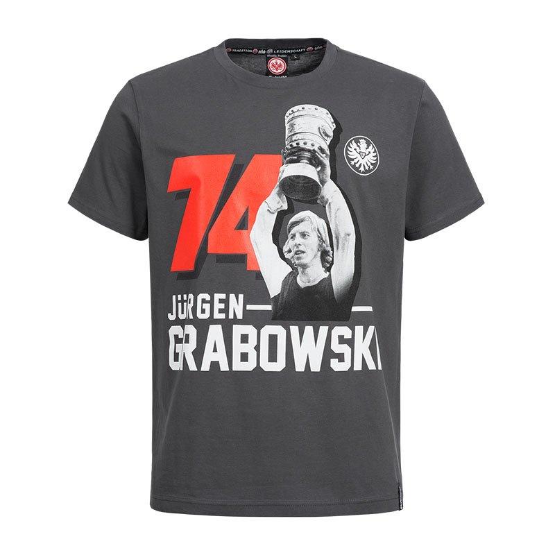 Eintracht Frankfurt Legenden Grabi T-Shirt Grau - grau