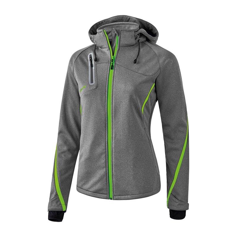 Erima Softshell Jacke Active Wear Damen Grau - grau