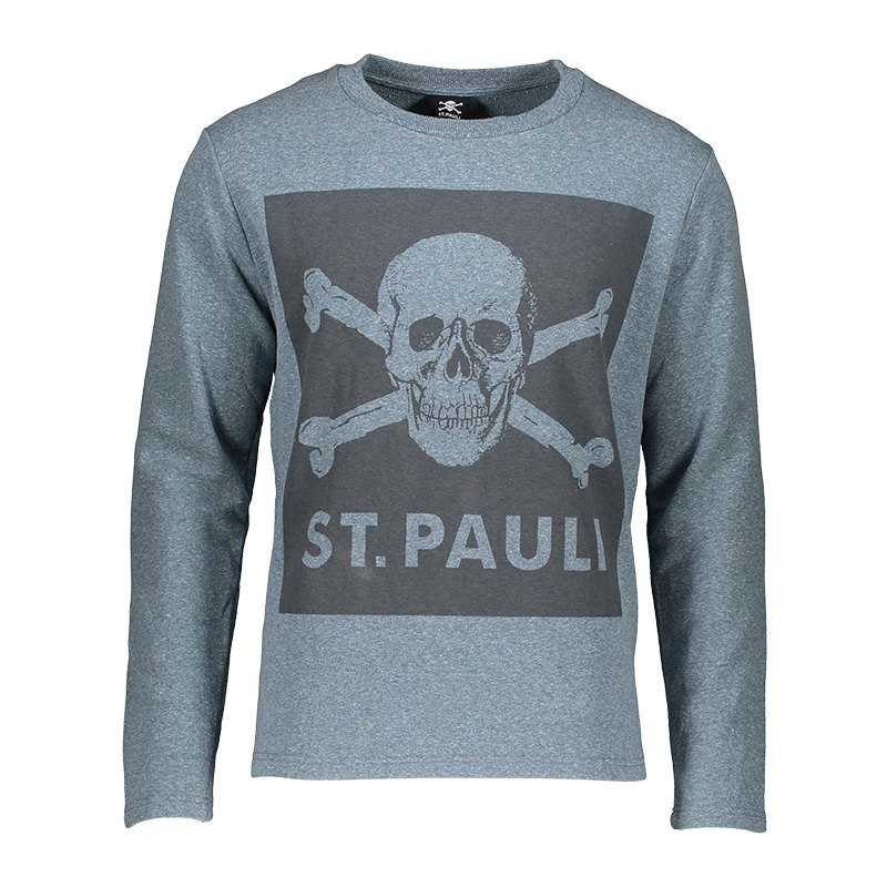 FC St. Pauli Blue Screen Sweatshirt Grau Schwarz - grau