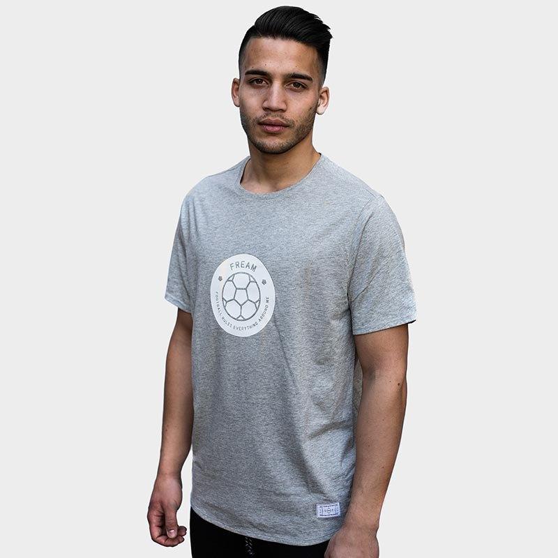 FREAM F.C. Basicline T-Shirt Crew 3 Grau - grau