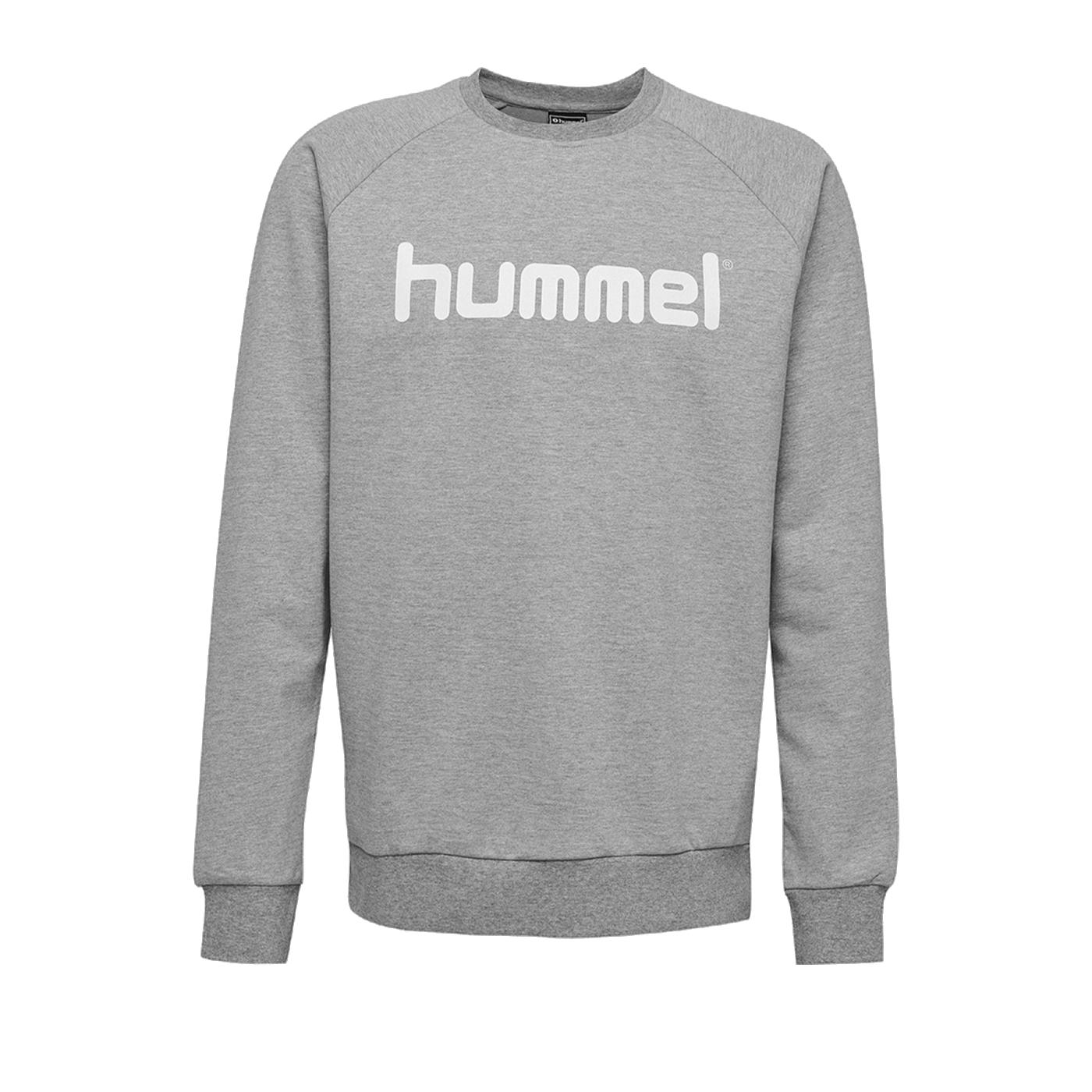 Hummel Cotton Logo Sweatshirt Kids Grau F2006 - Grau