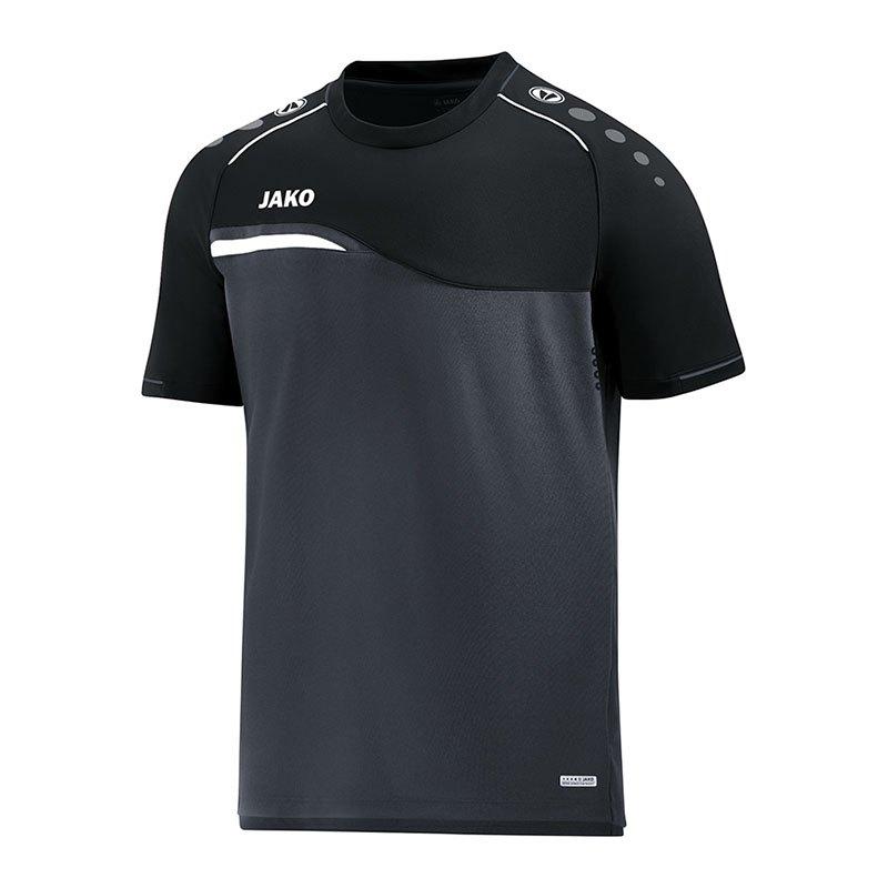 Jako Competition 2.0 T-Shirt Grau Schwarz F08 - grau