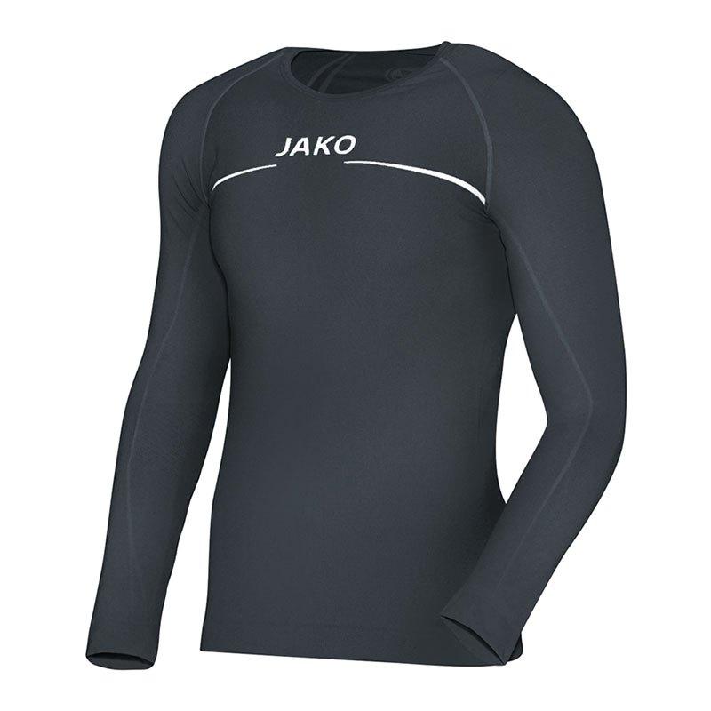 Jako Longsleeve Comfort Shirt Grau F21 - grau