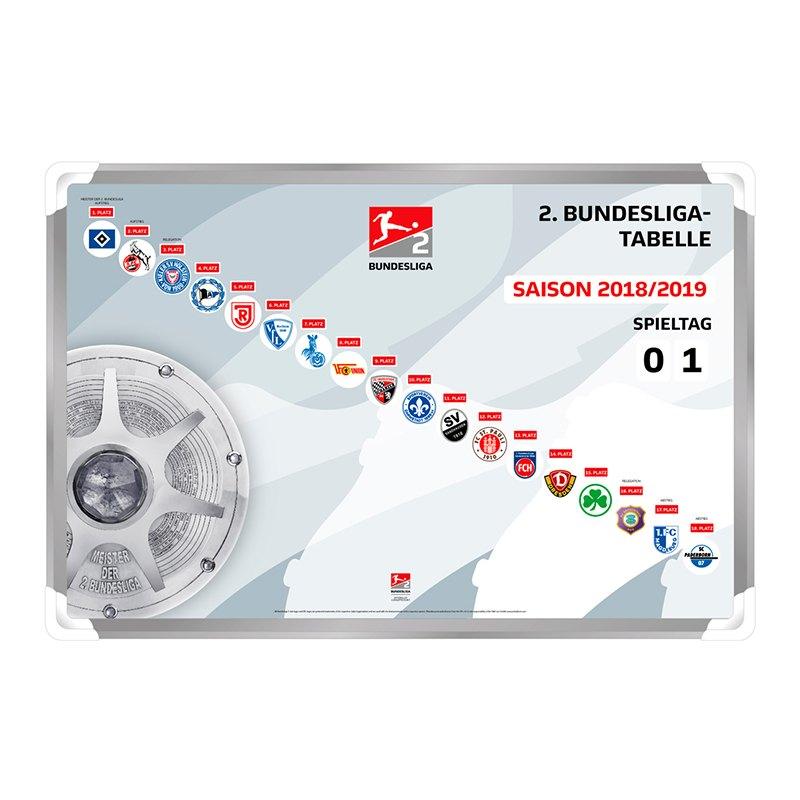 Magnettabelle 2. Bundesliga 2018/2019 - grau