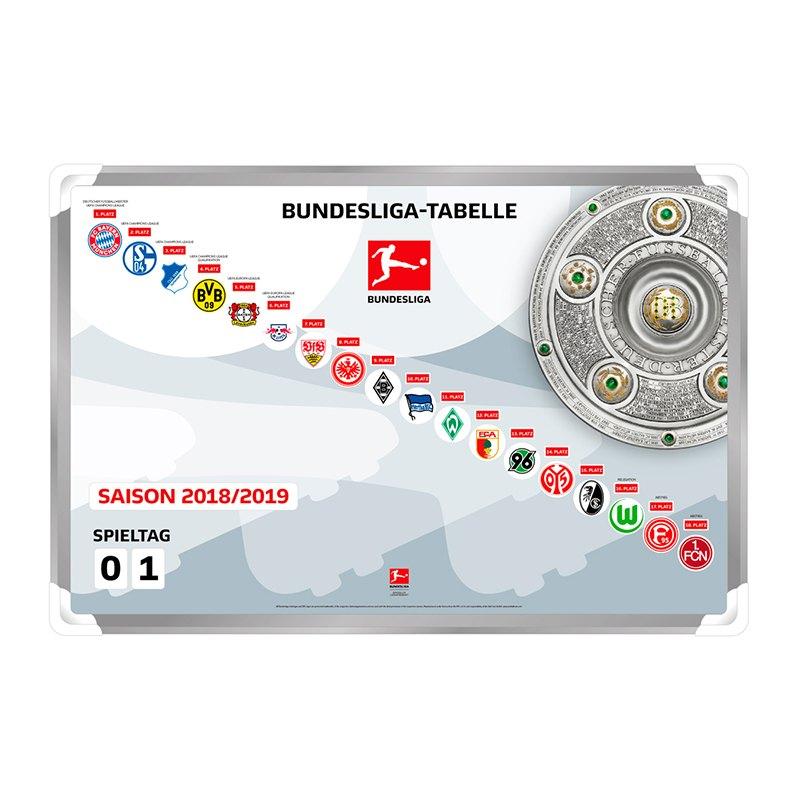 Magnettabelle Bundesliga 2018/2019 - grau