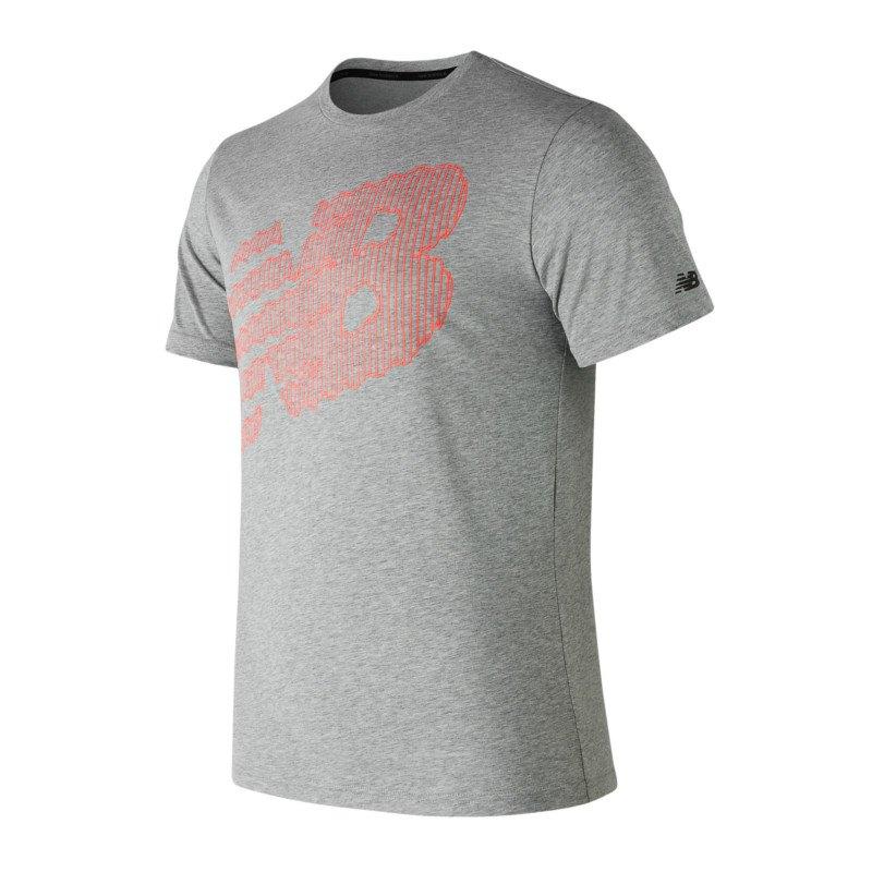 New Balance Heather Tech Tee T-Shirt Running F12 - grau