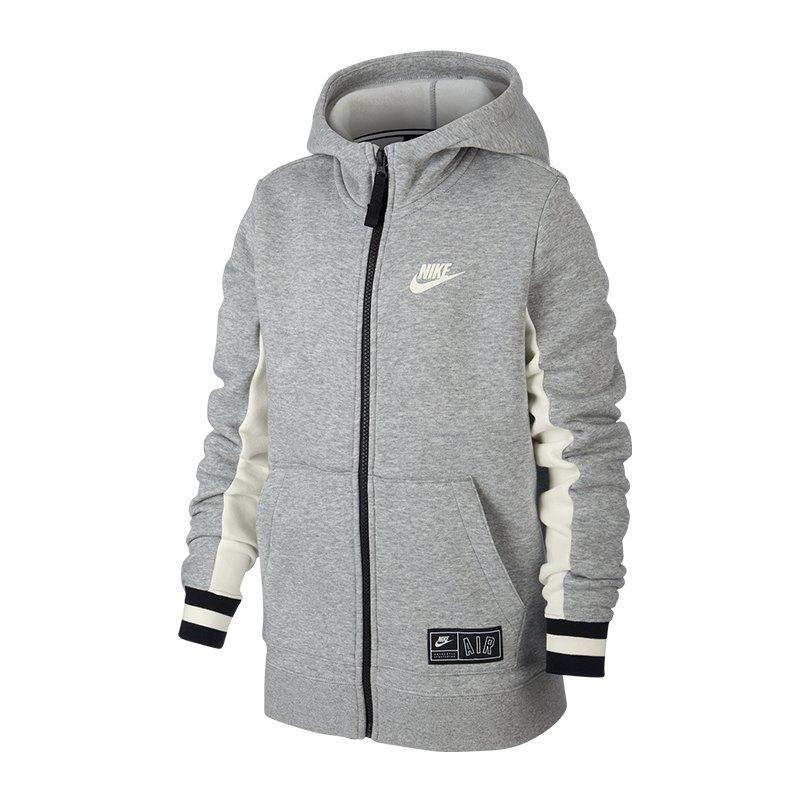 2c5315ca19a366 Air Fullzip Nike Hoody Freizeitoutfit Kids Grau Kapuzenjacke F063 aTRqUAxdw