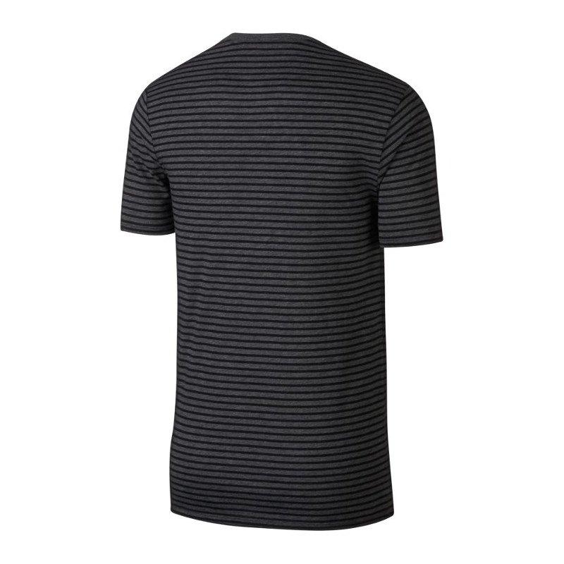 nike air tee swoosh t shirt grau schwarz f071 trend. Black Bedroom Furniture Sets. Home Design Ideas