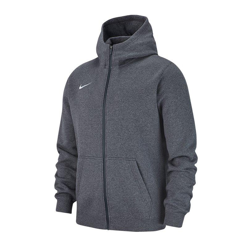 Nike Club 19 Fleece Kapuzenjacke Kids Grau F071 - grau