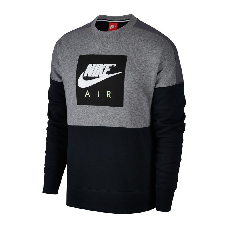 nike crew sweatshirt grau schwarz f091. Black Bedroom Furniture Sets. Home Design Ideas