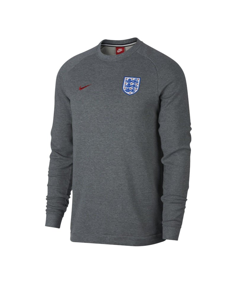 nike england crew modern sweatshirt grau f091 kane. Black Bedroom Furniture Sets. Home Design Ideas